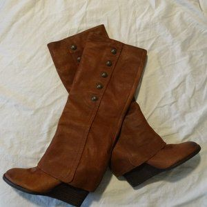 VINCE CAMUTO Brown V.C. ALMAY Wedge BOOTS  8.5 M